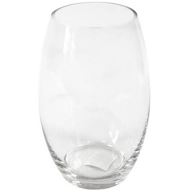 Vase obus en verre et en location de fete