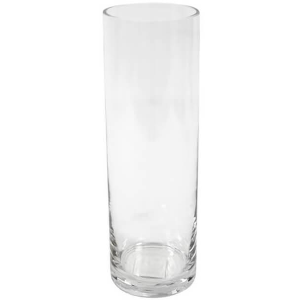 Vase transparent cylindrique en verre