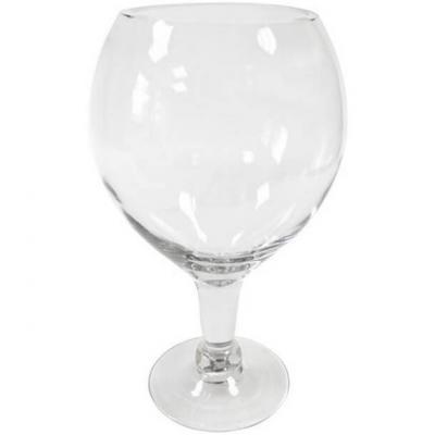 Vase verre ballon transparent 30cm (x1) REF/VER2042
