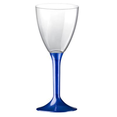 Verre à pied bleu perlé 180ml (x10) REF/57580