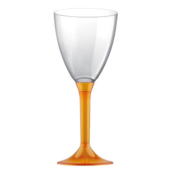 Verre a pied 180ml orange