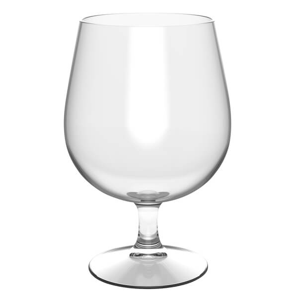 Verre ballon a biere transparent incassable 11