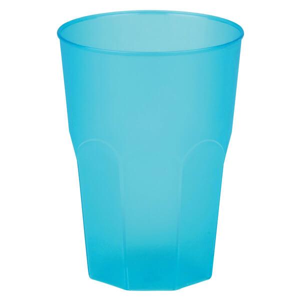 Verre cocktail incassable bleu turquoise givre
