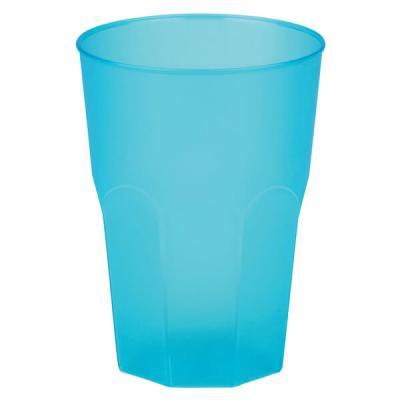 Verre cocktail incassable bleu turquoise givré 31cl (x20) REF/53875