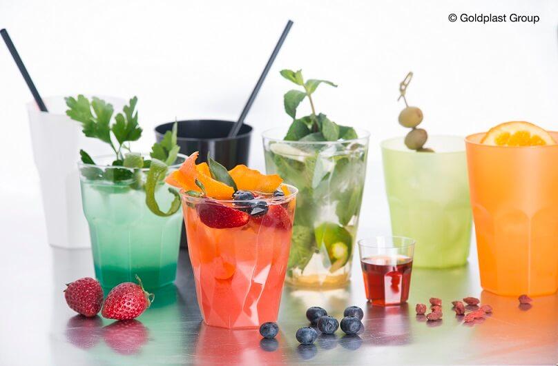 Verre cocktail vert givre