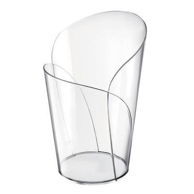 Verre conique transparent pétale 90ml (x15) REF/56043