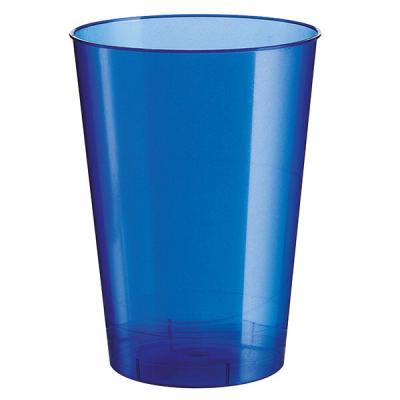 Verre plastique bleu perlé 200ml (x10) REF/52770