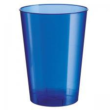 Verre plastique bleu perle