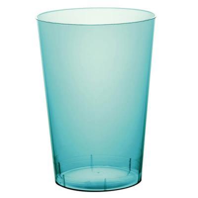 Verre plastique bleu turquoise 200ml (x10) REF/52770