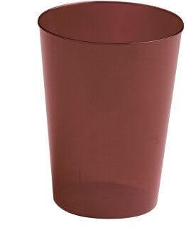 Verre plastique chocolat, 30cl (x8) REF/2485