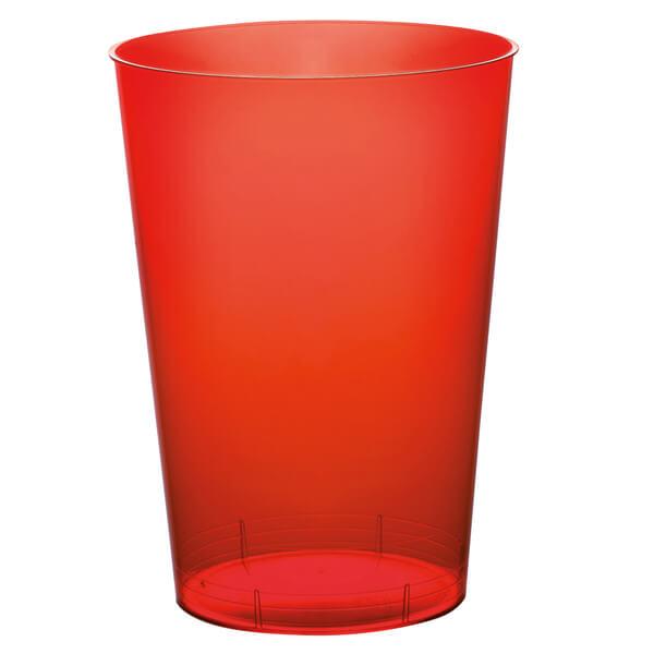Verre plastique rouge 1