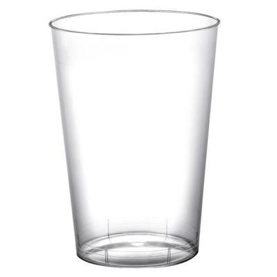 Verre plastique transparent 200ml (x10) REF/52770