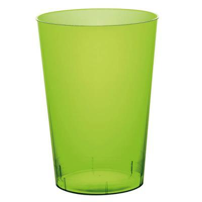 Verre plastique vert anis 200ml (x10) REF/52770