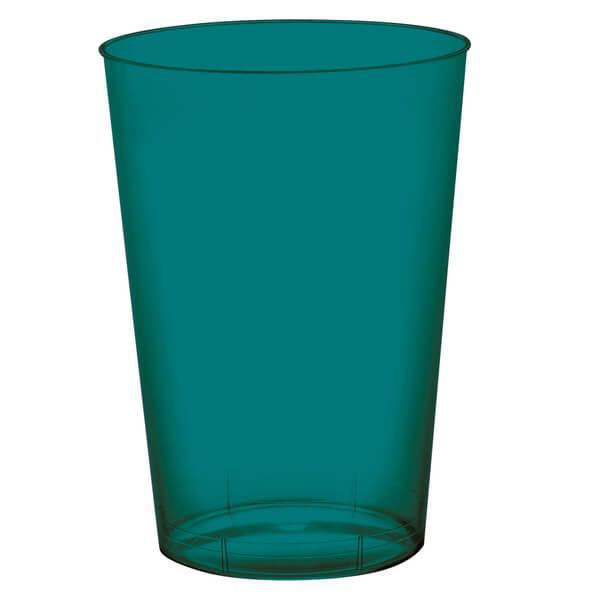 Verre plastique vert emeraude