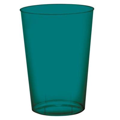 Verre plastique vert émeraude 200ml (x10) REF/52770