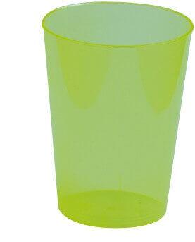 Verre plastique vert kiwi