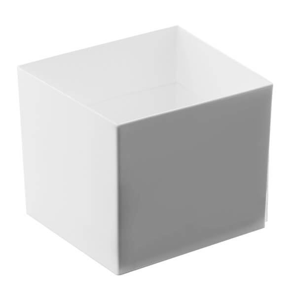 Verrine coupelle blanche en cube