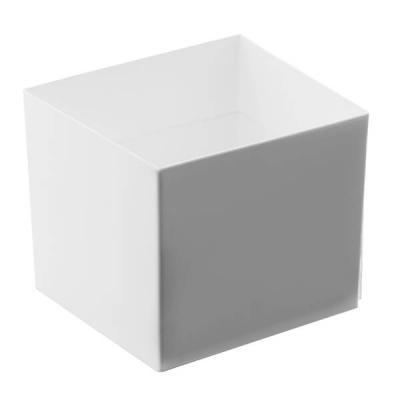 Verrine: Coupelle blanche en cube 6cl (x15) REF/56027