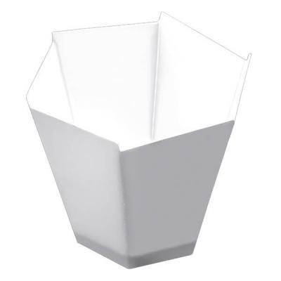 Verrine: Coupelle blanche hexagonale (x25) REF/56007