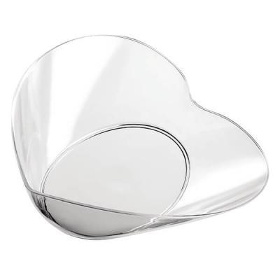 Verrine plastique réutilisable pour mariage avec coupelle coeur transparente 3cl (x25) REF/56030